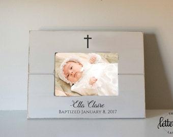 Baptism Gift, Baptized Picture Frame, Baby Gift, Godparent frame, Baby baptism, christening gift, dedication frame