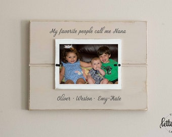 Grandma picture frame, Favorite people call me grandmother, nana, memaw, grandma frame