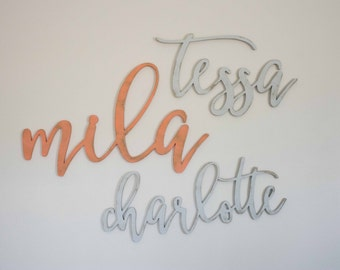 Wooden Name Sign, Above the Crib, Nursery Wall Decor Art, Wood Letters