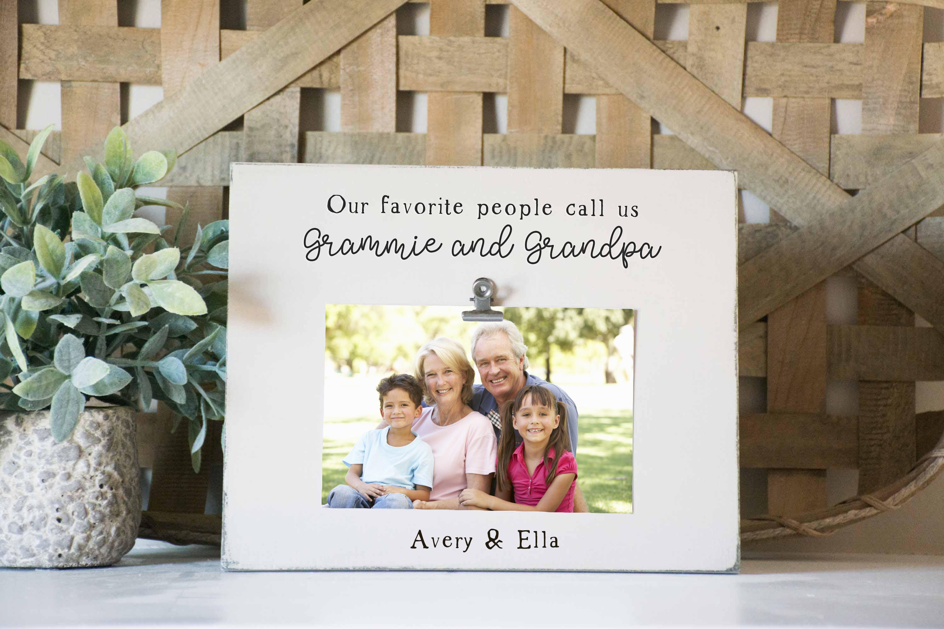 Grandparents Picture Frame Favorite people call us | Etsy
