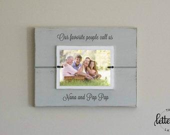 Grandparents picture frame, Favorite people call me grandma, grandpa, nana, personalized frame, parents gift, grandparents gift