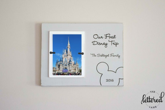 Disney Picture Frame First trip to disney Personalized Photo | Etsy