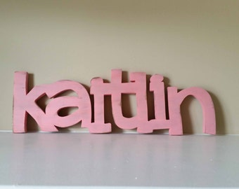 Wood Name Sign, Baby Name, Nursery Decor, Wood Letters