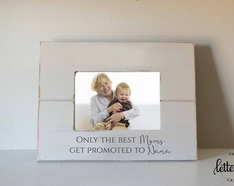 Grandma gift, Grandmother Picture Frame, Mothers day gift, custom, personalized photo frame, promoted to grandma, nana frame