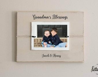 Grandma picture frame, blessings, grandma's blessings, nana, memaw, grandma frame, grandmother gift, grandparent picture frame