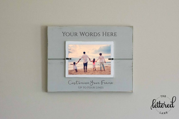 Custom Photo Frame, Personalize, Picture Frame, Gallery Wall ...