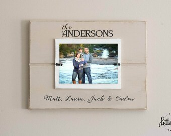 Family Picture Frame, Custom personalized photo frame, Wedding Gift, Anniversary present