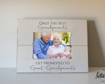 Great Grandparents frame, Grandmother Picture Frame, Mothers day, custom, personalized photo frame, promoted to great, grandpa frame