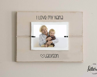 Love my grandma picture frame, nana, personalized, mother's day photo frame, grandmother gift, from child