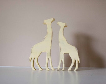 Giraffes Wood Animal Nursery Decor, Zoo nursery, Animal Decor, Baby animal nursery