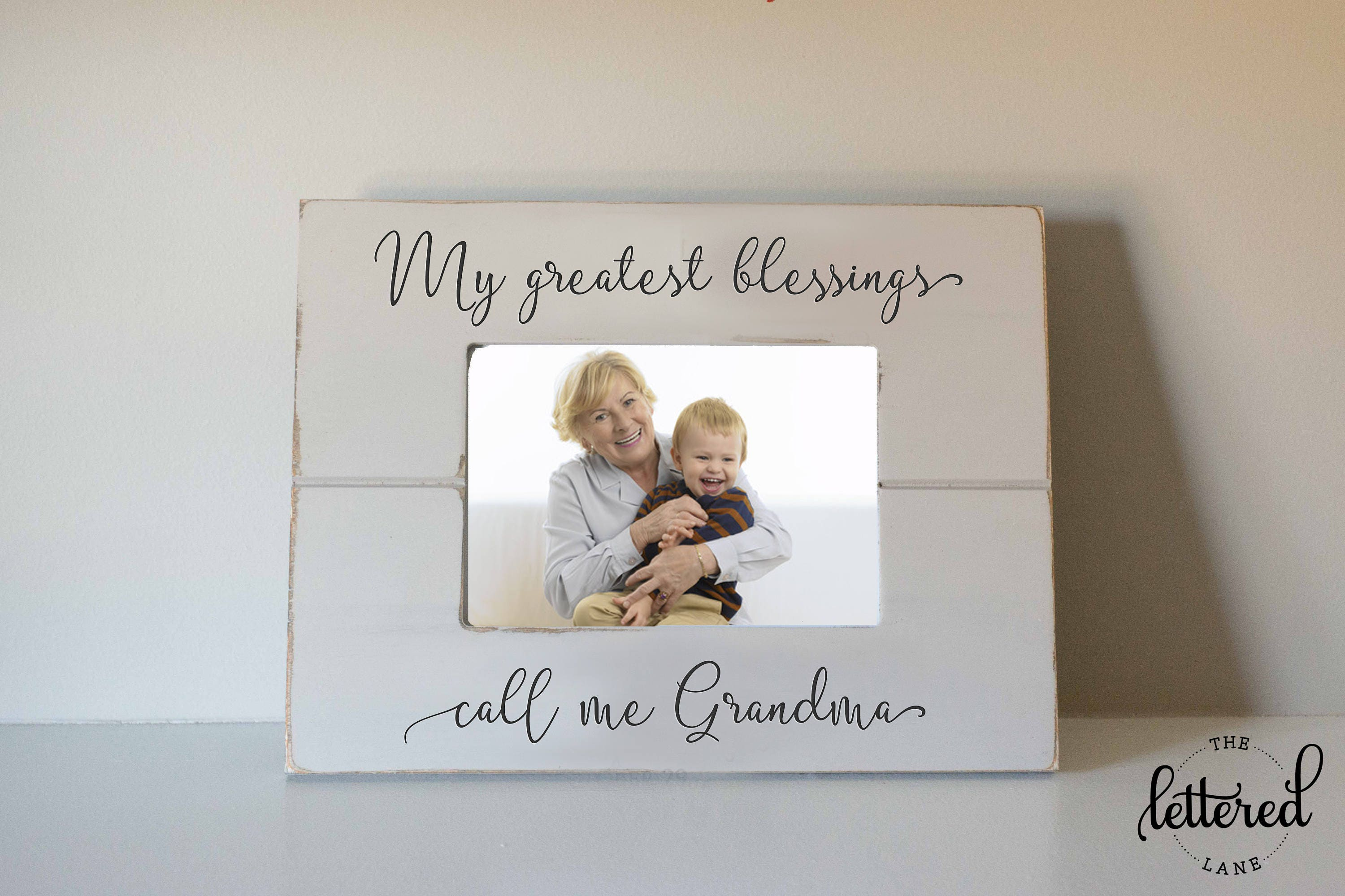 Grandma picture frame gift Greatest Blessings call me | Etsy