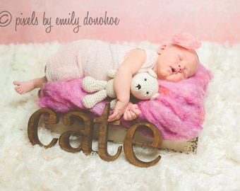 Wooden Letters for Nursery, Baby Name, Custom
