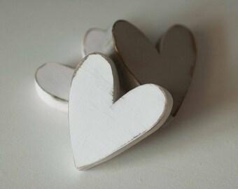 Hearts Decor Shabby Chic Nursery Wedding Cottage Home Decor - One heart