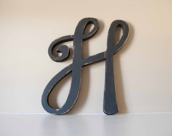 Wooden Nursery Letters, Baby Initials- Nursery, Home Decor