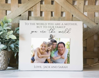 Mom Picture Frame, gift for mom, mothers day frame, best mom, gift from daughter, mom photo frame, gift from children