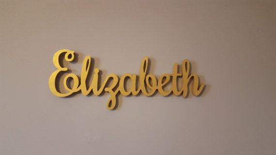 Gold Baby Name Zeichen, Buchstaben aus Holz Kinderzimmer, Holz Namensschild