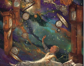 The Clockmaker Giclee by Tony Troy
