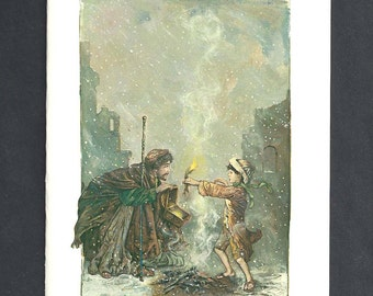 The Flame Blank Greeting Card by Tony Troy