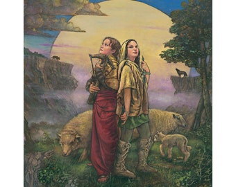 The Shepherds 18x24 Poster by Tony Troy
