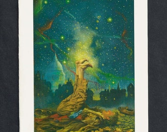 Feet to the Stars Blank Greeting Card by Tony Troy