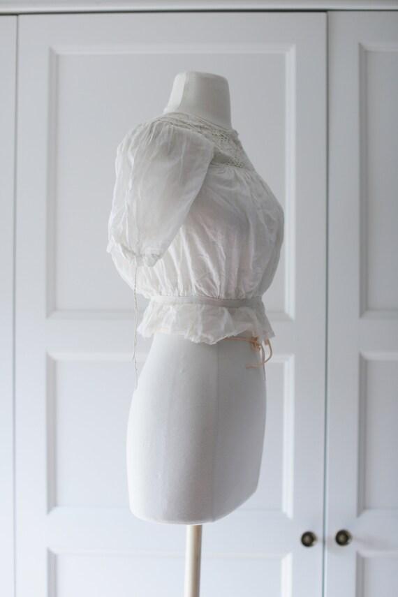 Antique Blouse - XSM | Victorian Edwardian Silk L… - image 3