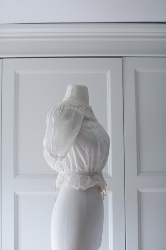 Antique Blouse - XSM | Victorian Edwardian Silk L… - image 6