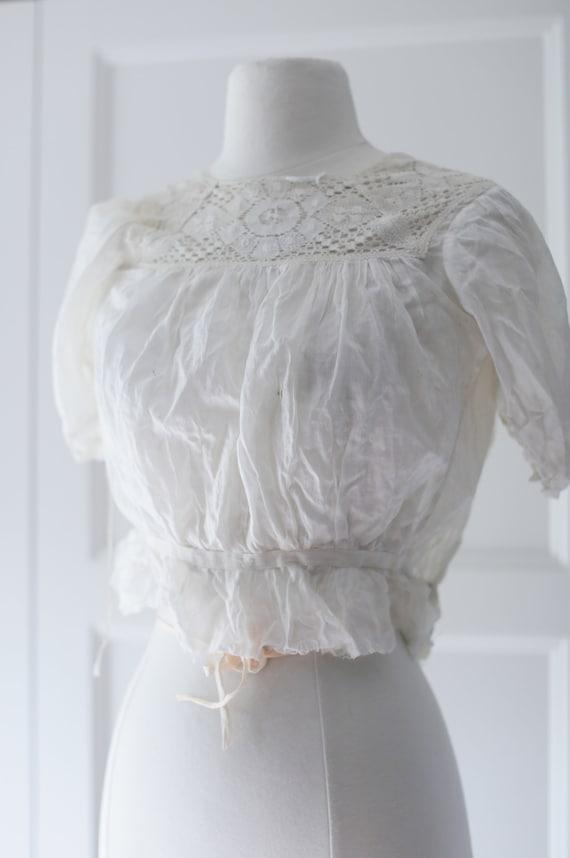 Antique Blouse - XSM | Victorian Edwardian Silk L… - image 2