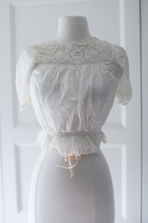 Antique Blouse - XSM | Victorian Edwardian Silk L… - image 5