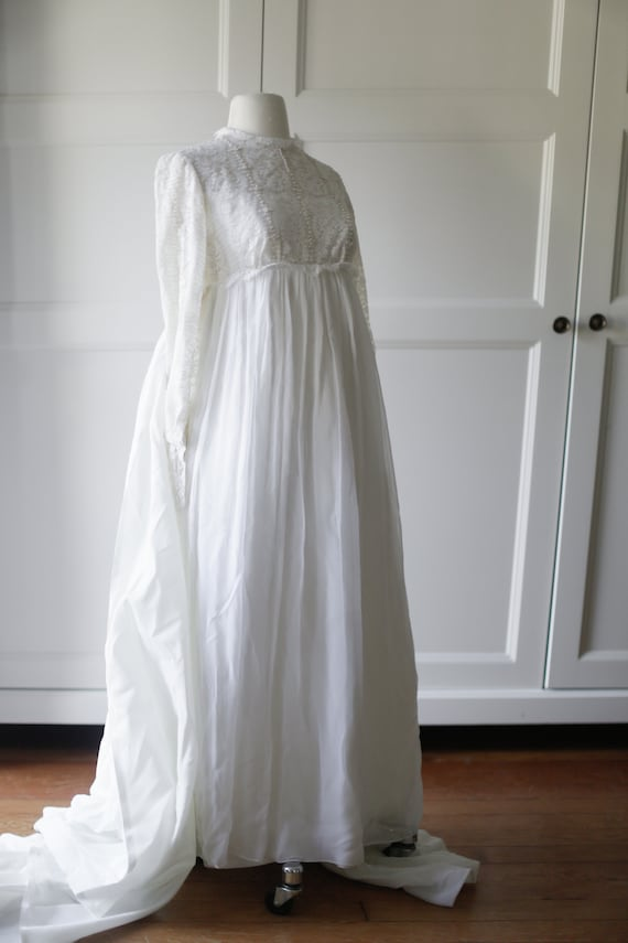60s Gauze Wedding Gown