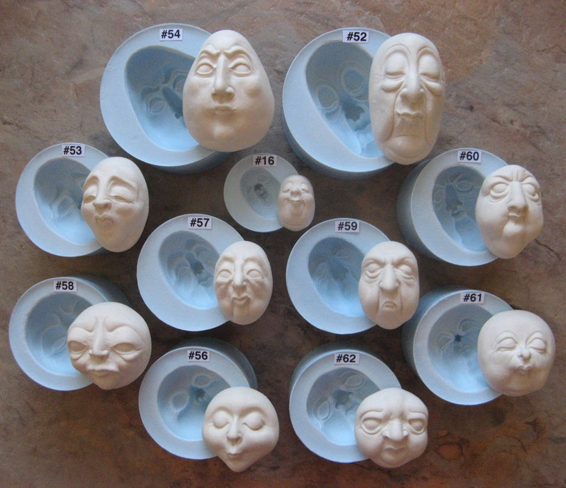 YOUR CHOICE  Food Grade Silicone Doll Face Cabochon Casting image 0