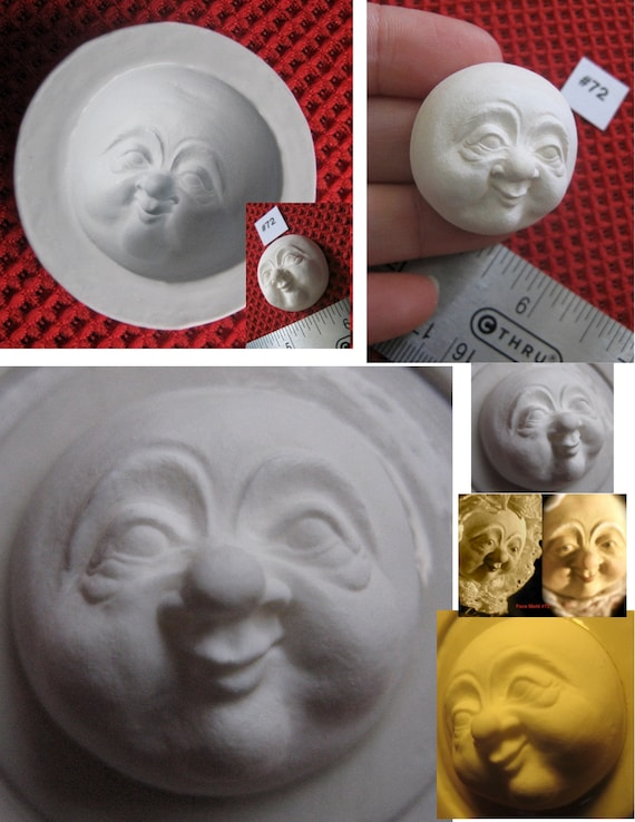 YOUR CHOICE Wizard FG Silicone Doll Face Cab Casting Molds of Santa Claus or Female Character Mrs