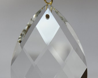 10 Clear Almond Teardrop Replacement Chandelier Glass Crystals Prisms Hanging Drops