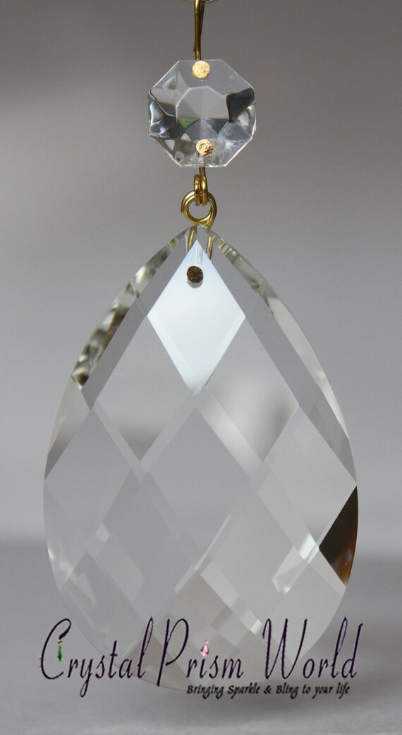 Clear Almond Teardrop Replacement Chandelier Glass Crystals - Replacement chandelier glass crystals