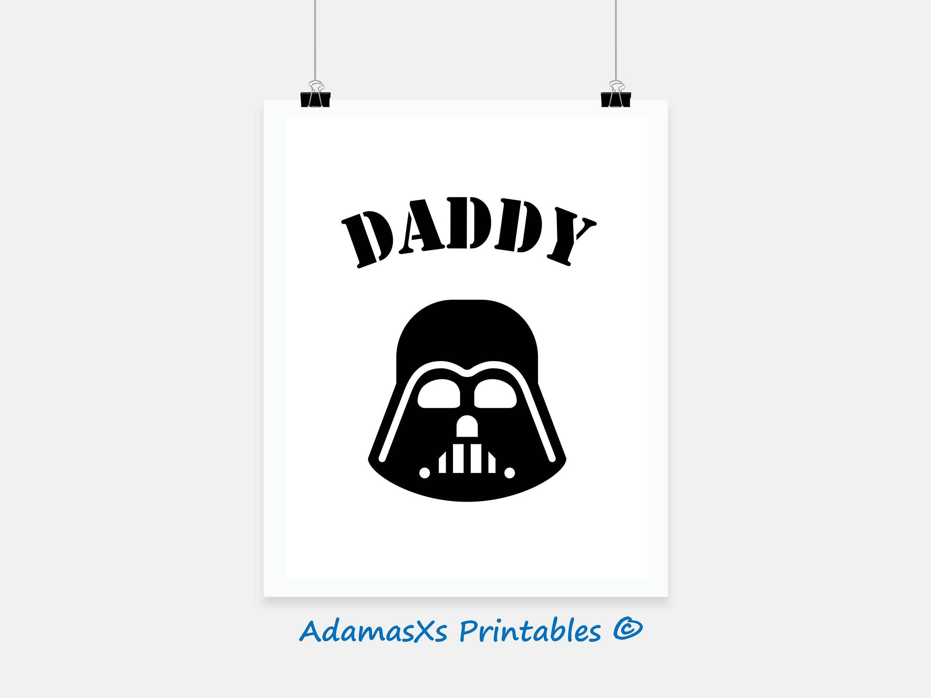 picture regarding Darth Vader Printable referred to as Star wars printable, Darth vader printable, Black and white prints, father presents, Presents for geeks, Reduced star wars nursery, Star wars poster