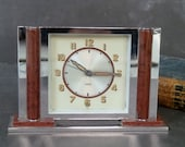 French JAZ Art Deco Alarm Clock