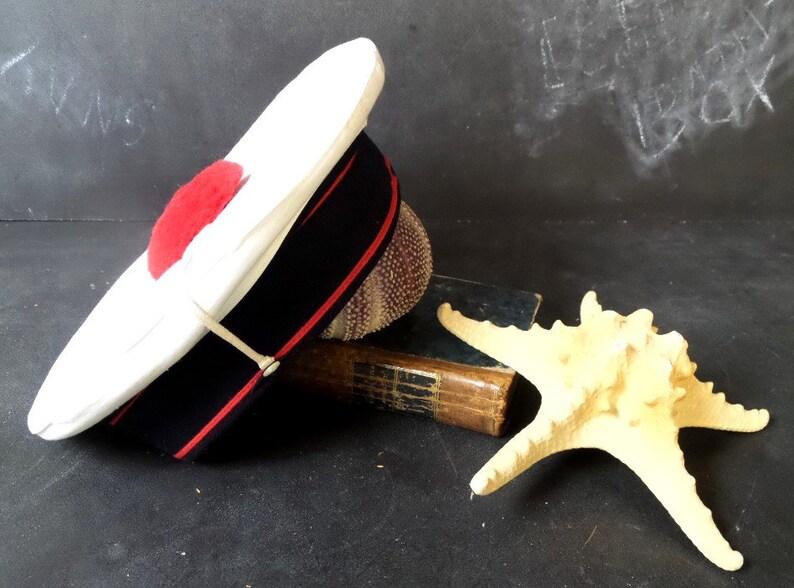 super popular 04489 84290 Vintage French Naval Marines Sailor Hat. Military Hat. Navy   Etsy