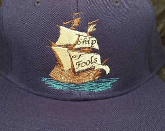 Ship of Fools Fitted Hat Grateful Dead made to order flat bill 17 hat  colors FREE SHIPPING 11cd58f04a16