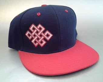 b4ccf1f74e3 Endless Knot Snapback Hat made to order Celtic Crop Circle design sacred  geometry FREE SHIPPING