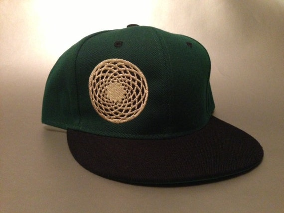 Crop Circle Snapback Hat made to order two tone flat bill FREE  fae00f2fb0dc