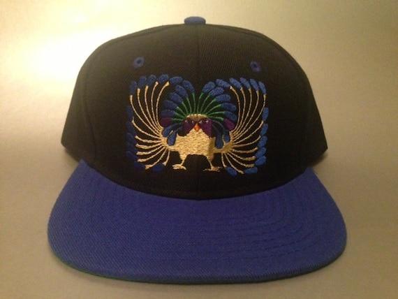 64b6dec3e14 Inca Peacock Snapback Hat made to order two tone flat bill