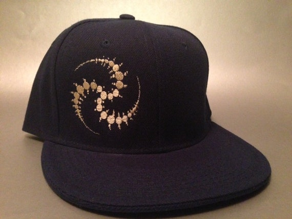dcbb9d3fae6 Crop Spiral Fitted Hat made to order Crop Circle design sacred