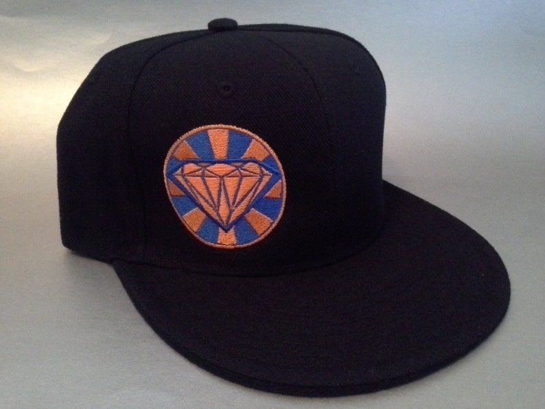dd7e56dd762 Crop Diamond Fitted Hat made to order flat bill crop circle