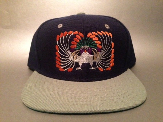 Inca Peacock Snapback Hat made to order two tone flat bill  b8a189e11582