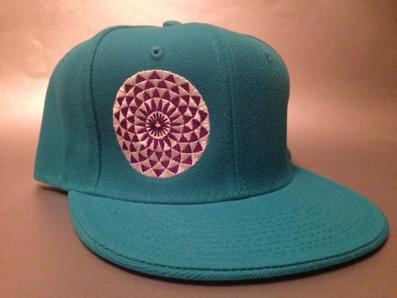 b9b2b5ba4bf Crop Flower Fitted Hat made to order flat bill crop circle