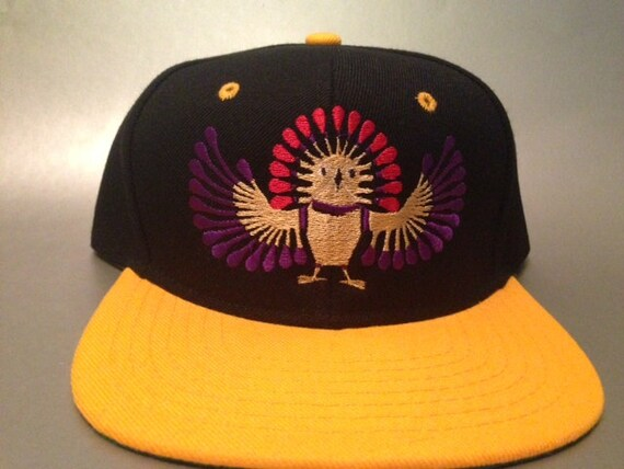 Inca Owl Snapback Hat made to order two tone flat bill FREE  0e1449b6212a