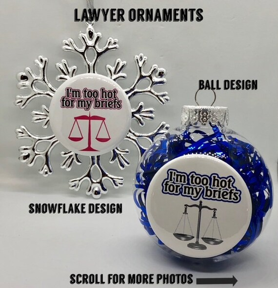 image 0 - Lawyer Attorney Holiday Ornaments Etsy
