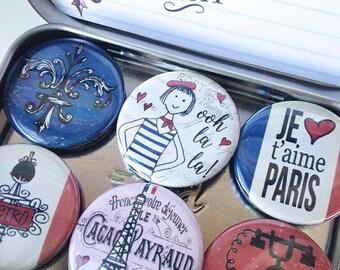 I Love Paris Magnets, gift set