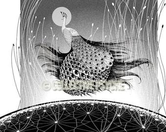 "Beholder - Peacock 13"" x 19"" Art Print"