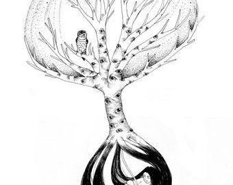 "Conscious Tree - 13"" x 19"" Art Print"