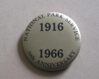 National Park Service 50th Anniversary 1916-1966 Pinback